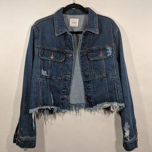 Hidden Jeans Jackets & Coats - Hidden Jeans Rebel Cropped Oversized Denim Jacket